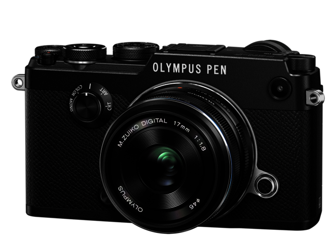 Olympus PEN F m/17mm f:1.8 Sort/Sort inkl. 64GB Extreme Pro